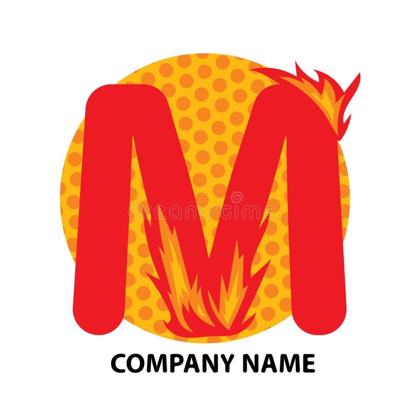 M Letter Logo Design illustration libre de droits
