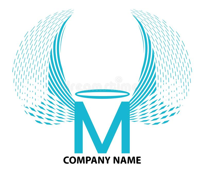 M Letter Logo Design ilustração stock