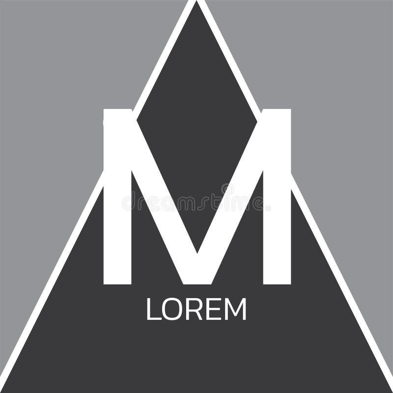 M Letter Logo Design ilustração royalty free