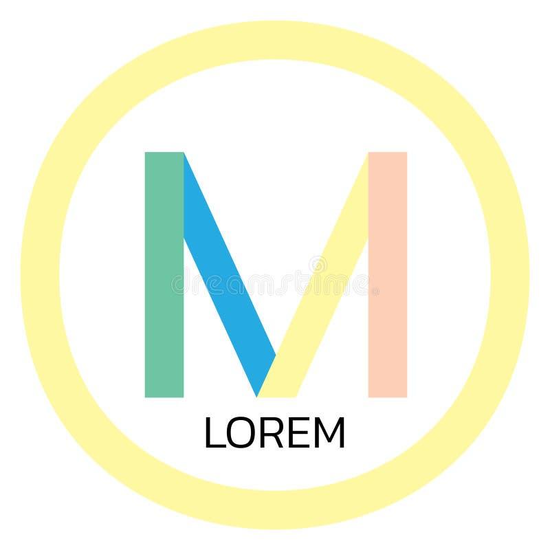 M Letter Logo Design ilustración del vector