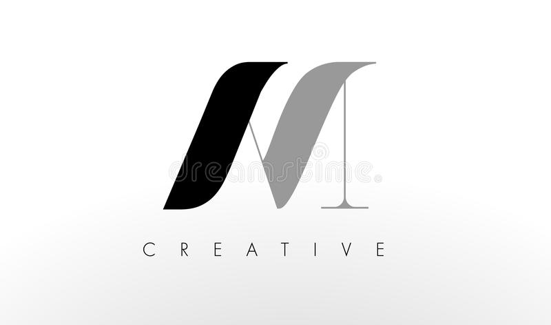 A M. Letter Logo Design O AM criativo rotula o ícone ilustração royalty free