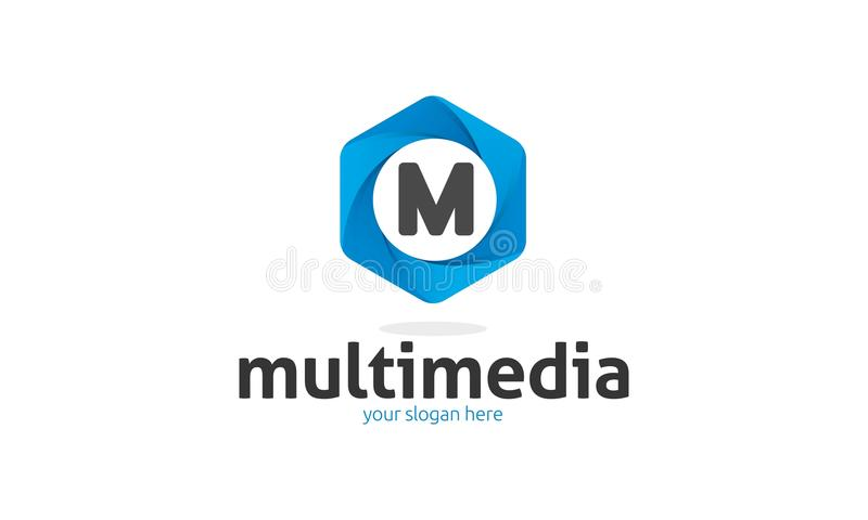 M Letter Logo royalty free illustration