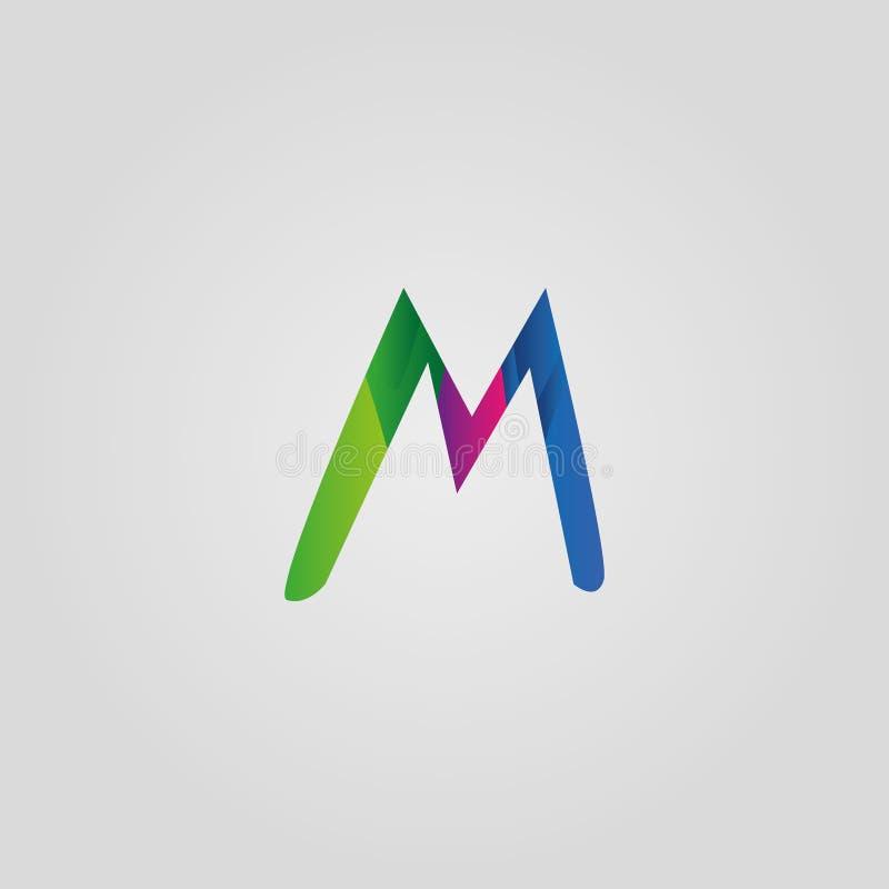 M letter logo template. Colorful m letter logo vector illustration