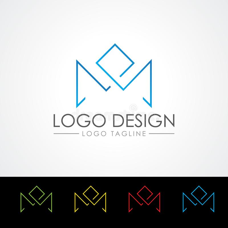 M letter Logo Templates vector Illustration. Easy to use this template all are vector file. If you need help please feel free to contact with me I will help royalty free illustration