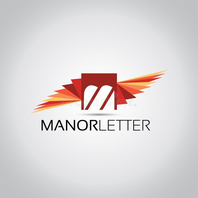 M Letter Wings Logo royalty-vrije illustratie