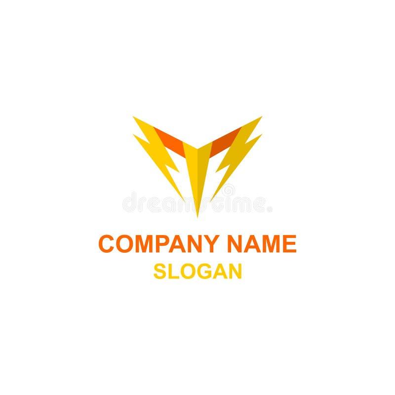 M listu inicjału grzmotu logo ilustracji