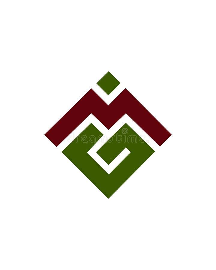 M lub MG początkowy 1 ikony biznesowego ubezpieczenia pieniężny abstrakt