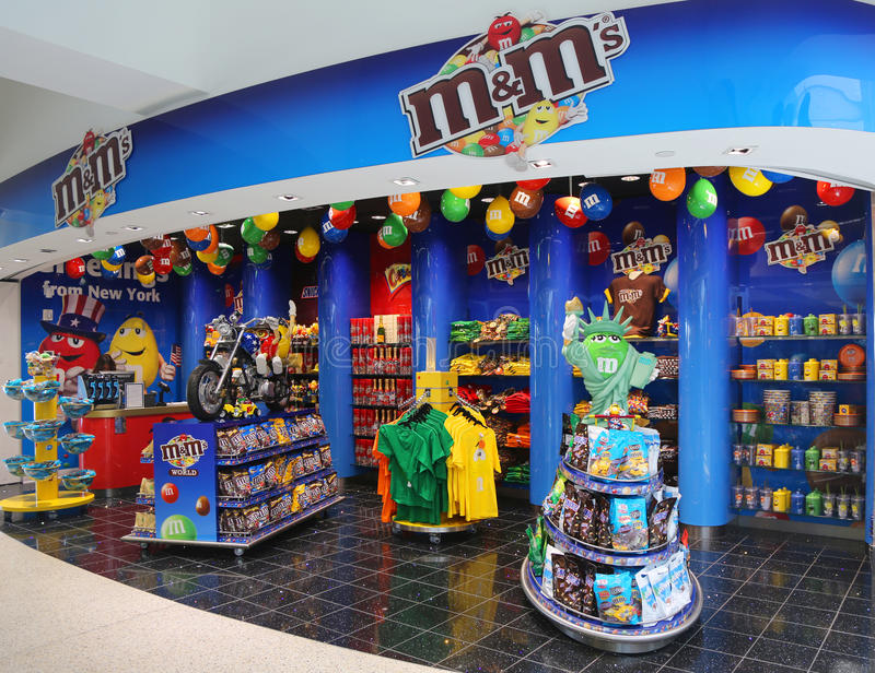 M&M candy store located at Terminal 7 in JFK Airport royalty free stock images