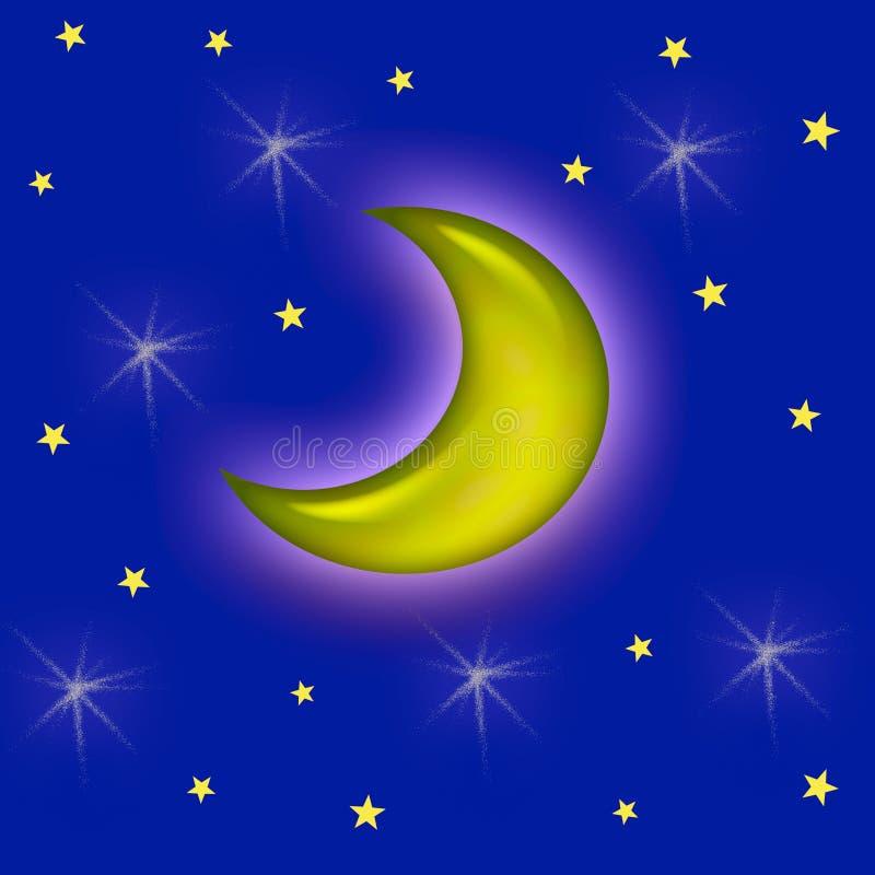 M. maan vector illustratie