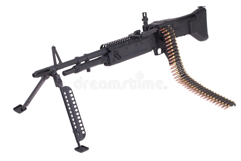M60 machine gun. Isolated on white background royalty free stock images