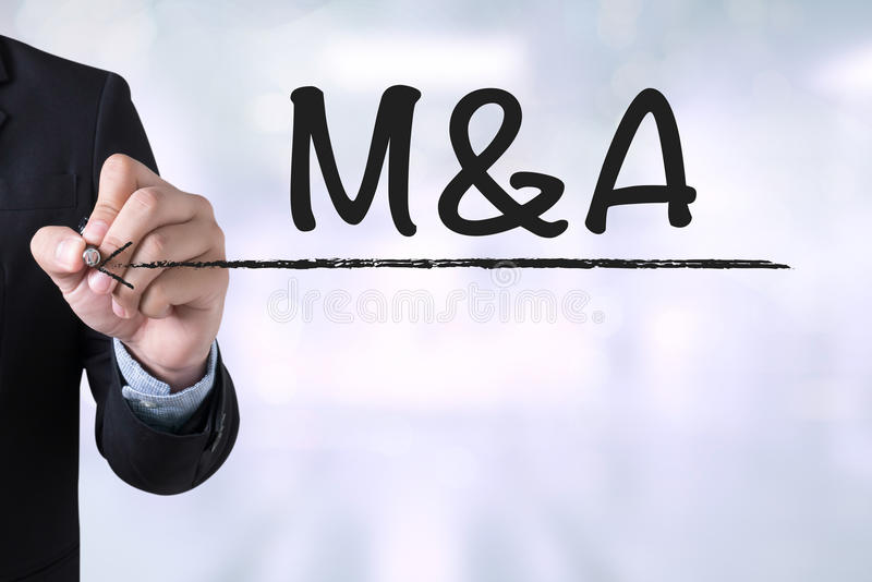 M&A (MERGERS AND ACQUISITIONS) stock photography