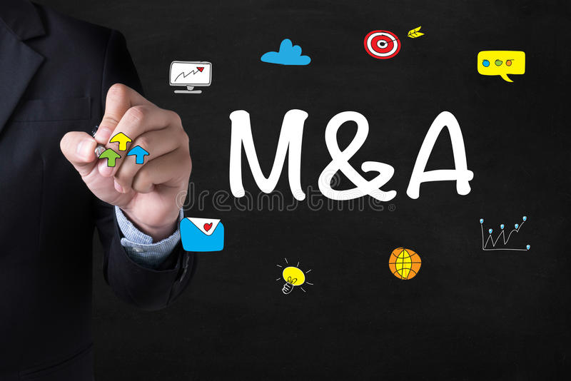 M&A (MERGERS AND ACQUISITIONS) stock photos