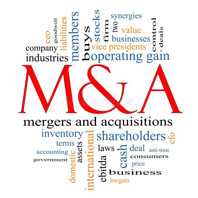 M & Mergers & förvärvordoklarhet vektor illustrationer