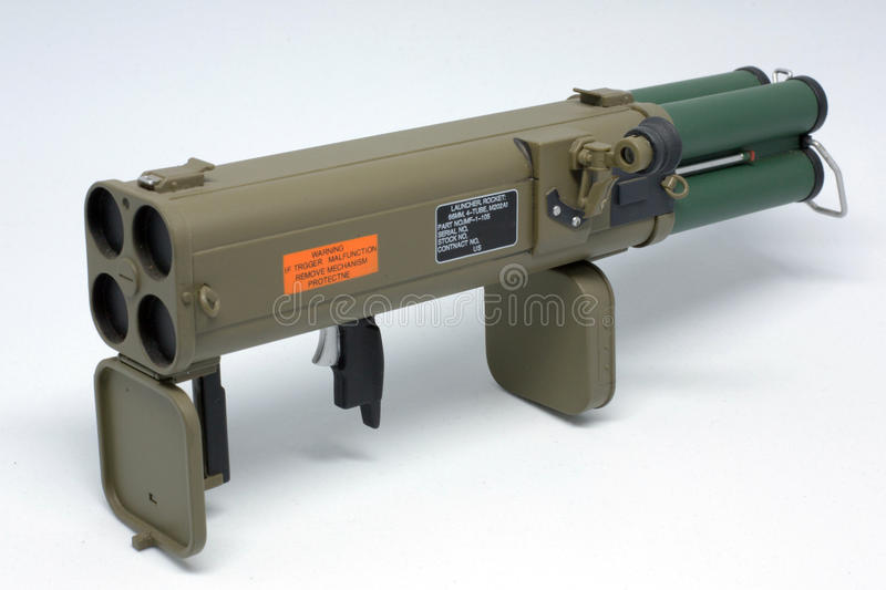 M202A1 model toy. Multipods rocket launcher colectibles toy stock images