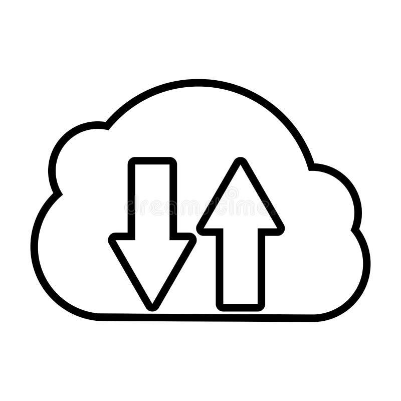 M?moire de calcul de nuage illustration de vecteur