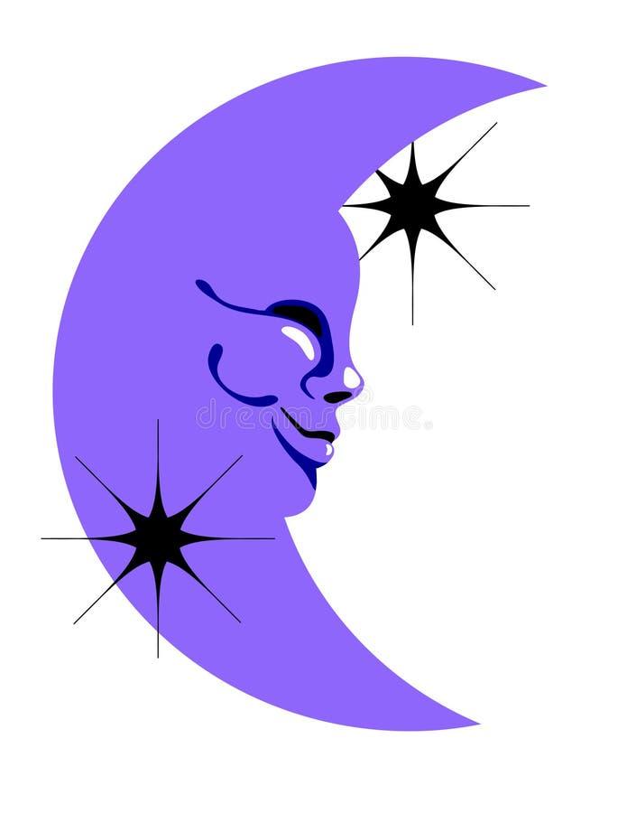 M. Moon illustration stock