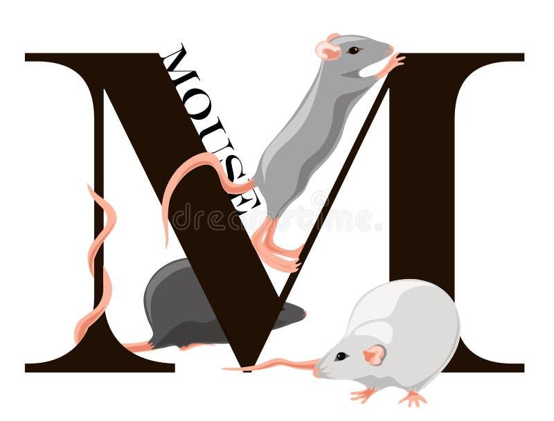 M-mus stock illustrationer