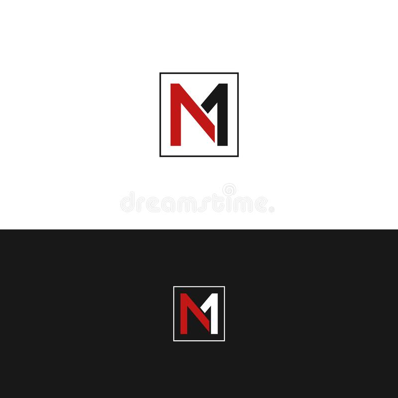 M1, N1, MN, Letter Base Icon Logo Vector Design stock photography