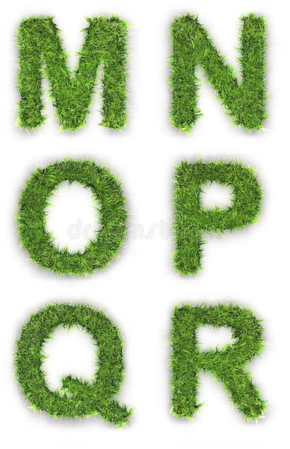 Download M,n,o,p,q,r Made Of Green Grass Stock Illustration - Image: 18922687
