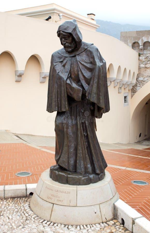 Mônaco - estátua de Grimaldi fotografia de stock royalty free