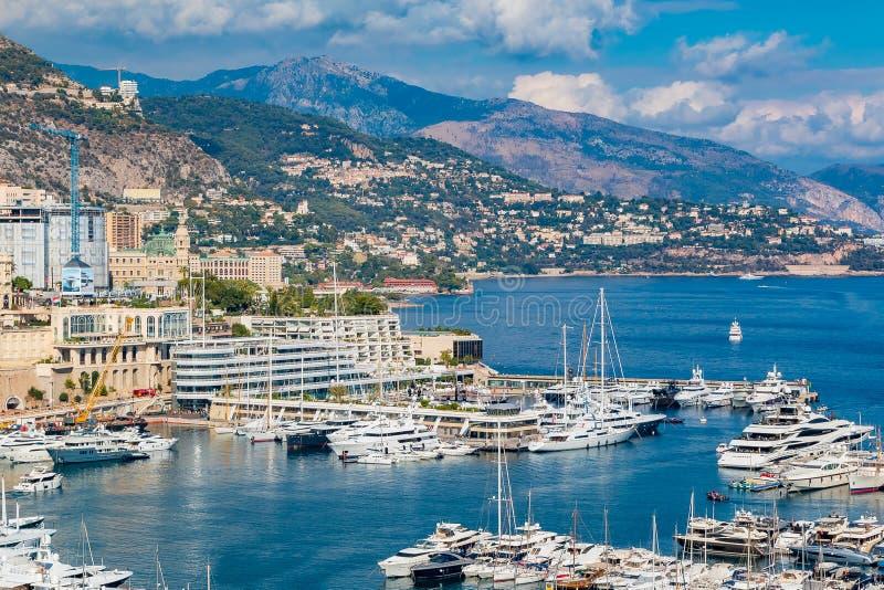 Mônaco Monte - porto da cidade de Carlo fotografia de stock royalty free