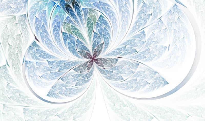 M?ngf?rgad symmetrisk fj?ril i m?lat glassstil vektor illustrationer