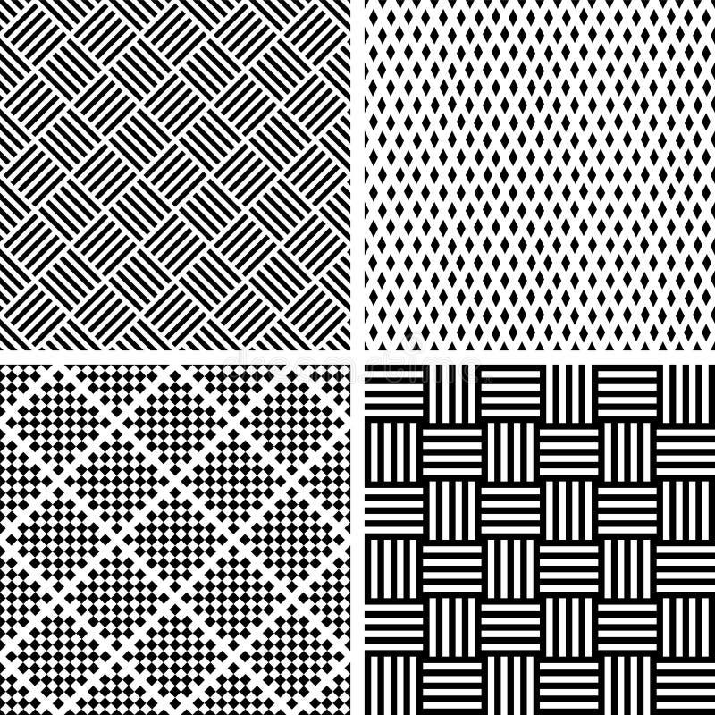 m?nsan den seamless seten geometriska texturer arkivbild