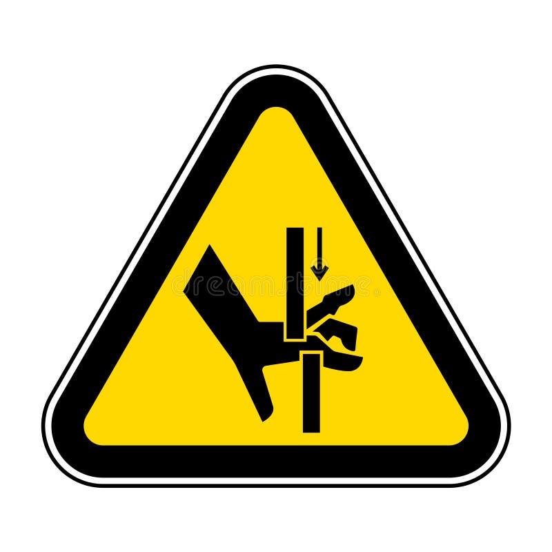 A m?o esmaga o sinal do s?mbolo das pe?as m?veis, ilustra??o do vetor, isolado na etiqueta branca do fundo EPS10 ilustração stock