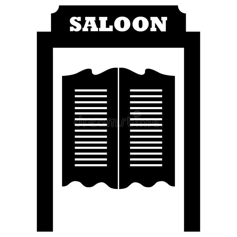 M?o tirada, vetor do eps do vetor da porta do bar, Eps, logotipo, ?cone, ilustra??o da silhueta por crafteroks para usos diferent ilustração stock