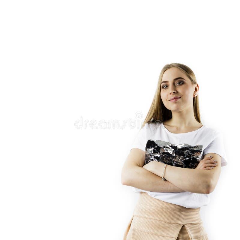 M?oda kobieta w bielu zdjęcie stock