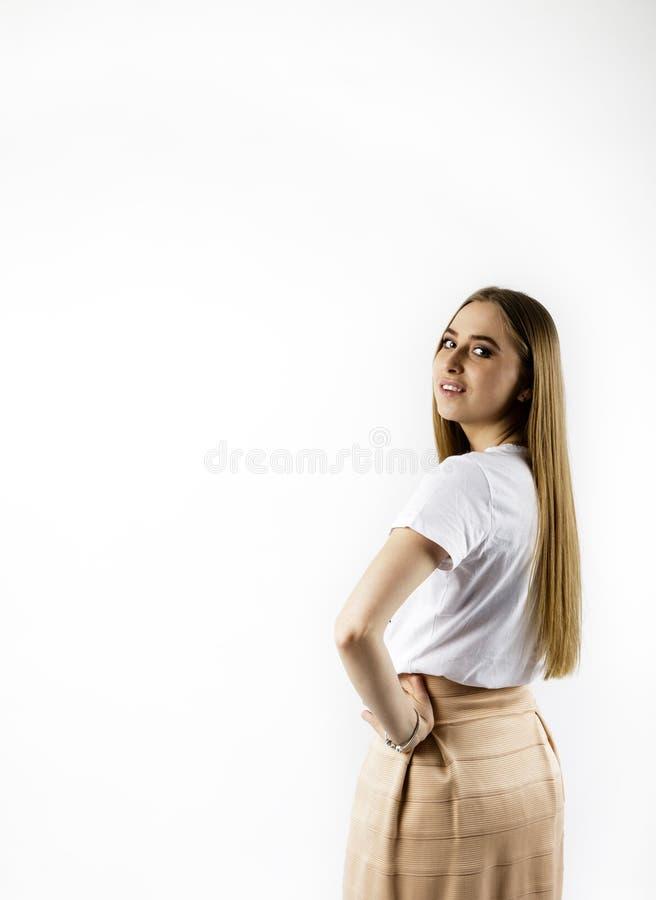 M?oda kobieta w bielu fotografia royalty free