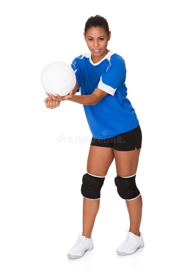 Download Młodej Dziewczyny Mienia Siatkówka Zdjęcie Stock - Obraz złożonej z fitness, femaleness: 28969136