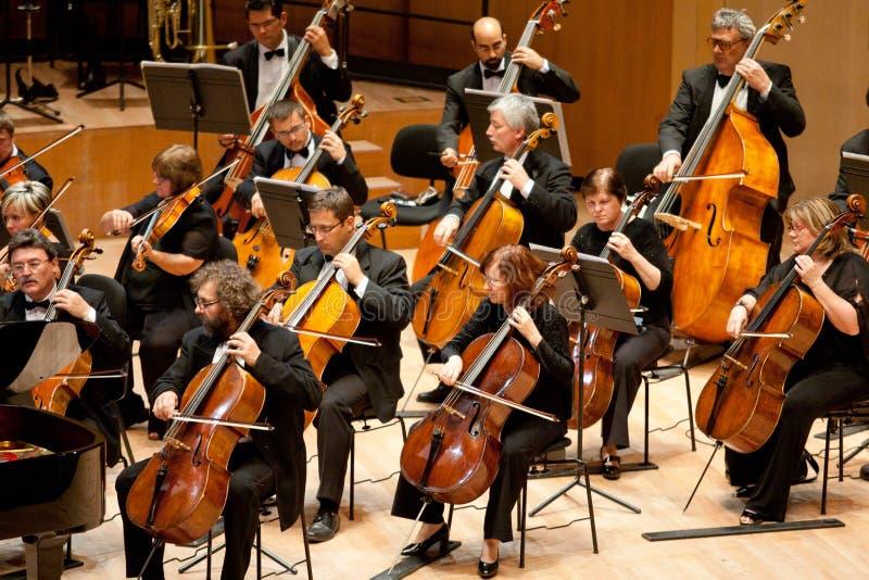 M. orchestre symphonique exécutent image stock