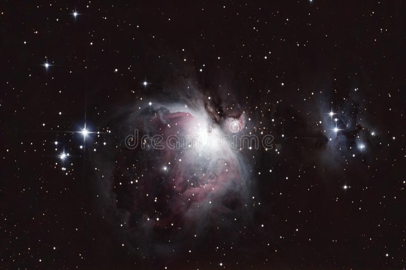 M42 - The Orion Nebula and the Running Man royalty free stock image