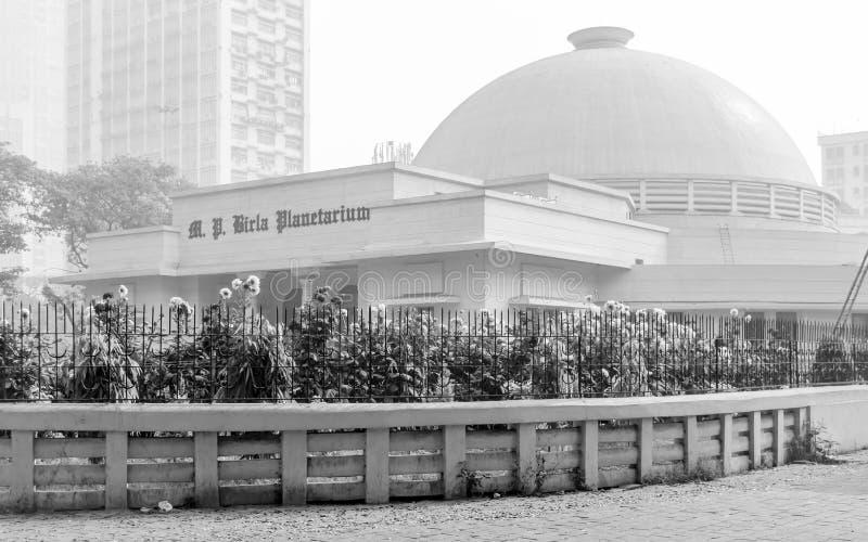 M P Birla planetarium na pogodnym ranku przy Kolkata, Calcutta, Zachodni Bengalia obraz stock