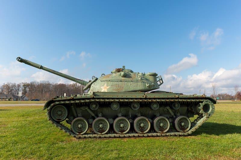 M48 Patton Army Tank på skärm arkivfoto