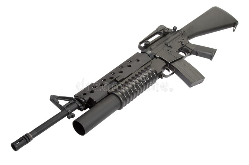 An M16A4 Rifle Equipped With An M203 Grenade Launcher ... M16a4 M203