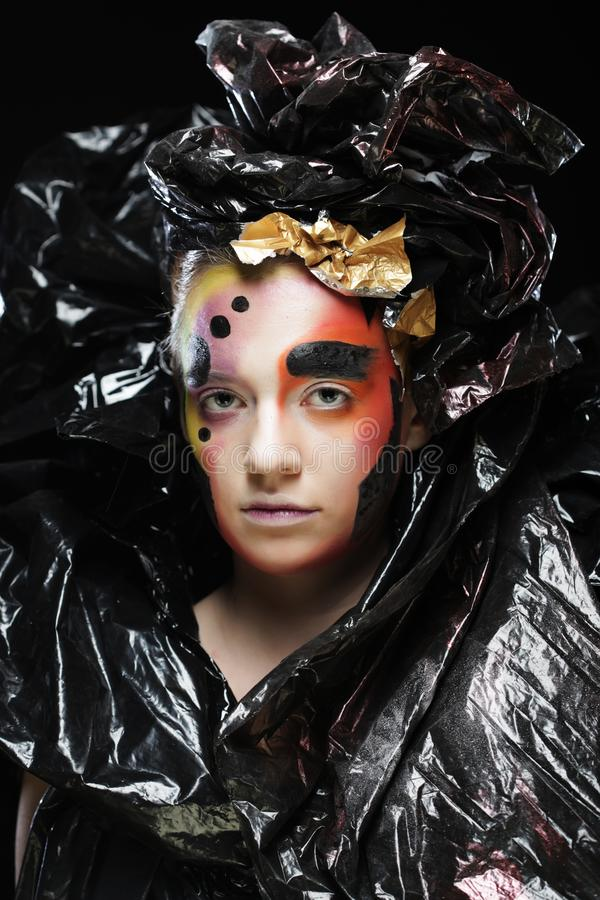 M?rk h?rlig gotisk Princess Halloween deltagare royaltyfria bilder