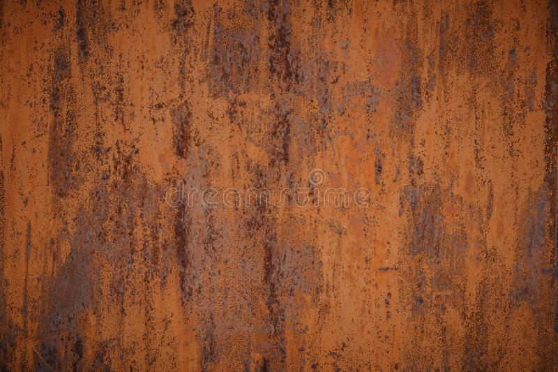 M?rk sliten rostig metalltexturbakgrund royaltyfri fotografi
