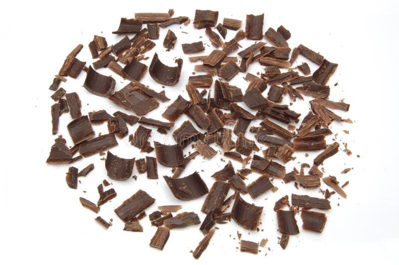 M?rka chokladshavings royaltyfria foton