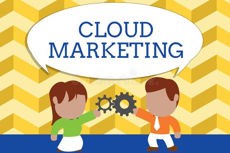 M?rketing de la nube del texto de la escritura de la palabra Concepto del negocio para el proceso de una organización para comerc ilustración del vector