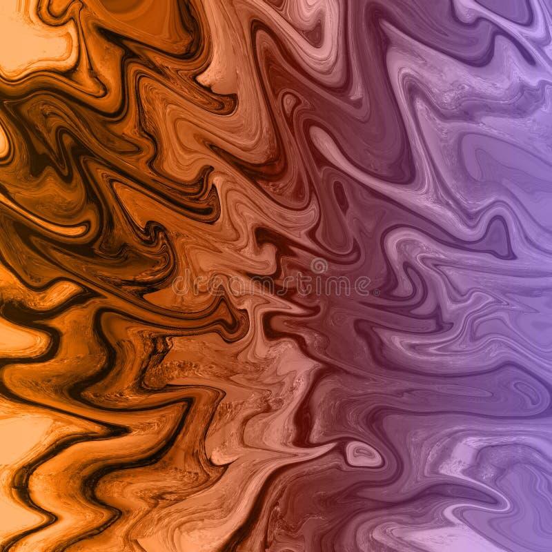 m?rmol del oro y fondo abstracto l?quido con las rayas de la pintura al ?leo ilustración del vector