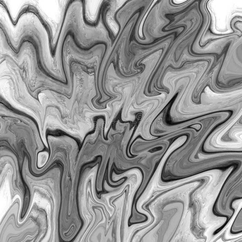 m?rmore do ouro e fundo abstrato l?quido com raias da pintura a ?leo ilustração do vetor