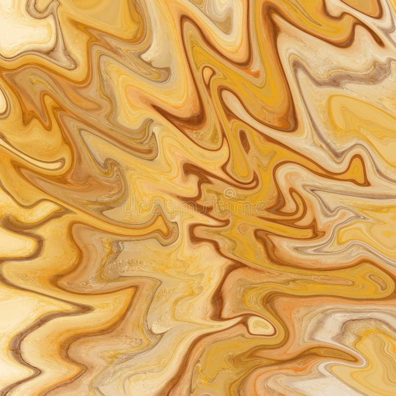 m?rmore do ouro e fundo abstrato l?quido com raias da pintura a ?leo ilustração royalty free