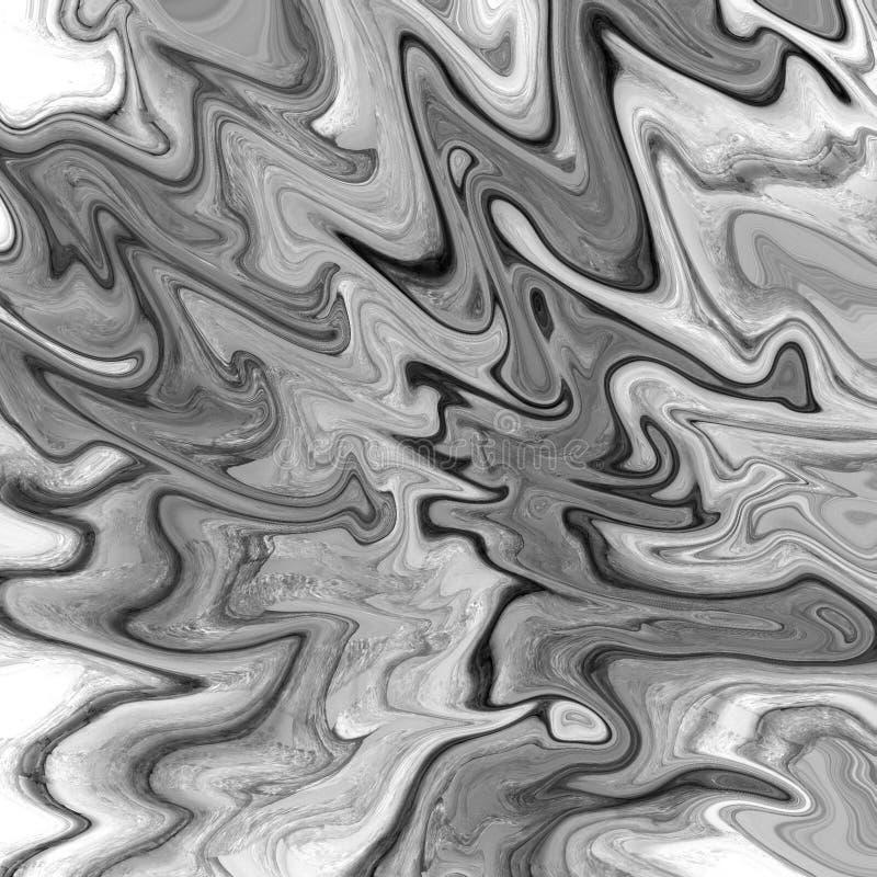 m?rmore do ouro e fundo abstrato l?quido com raias da pintura a ?leo ilustração stock