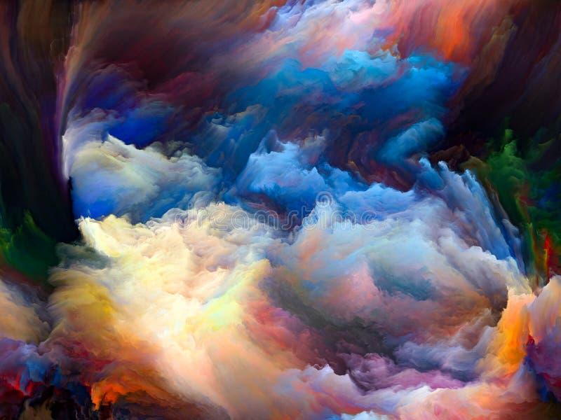 M?s all? del movimiento del color stock de ilustración