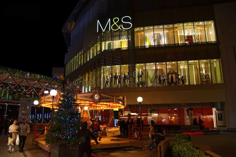 M&S no Natal fotografia de stock