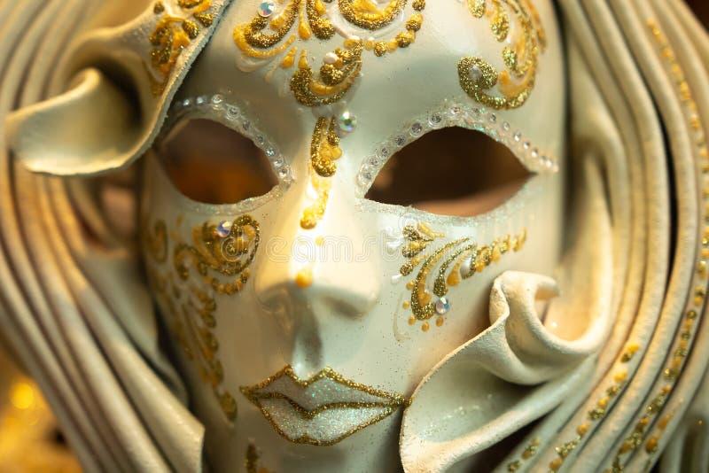 M?scara do carnaval de Veneza Máscara venetian tradicional para o carnaval imagem de stock royalty free