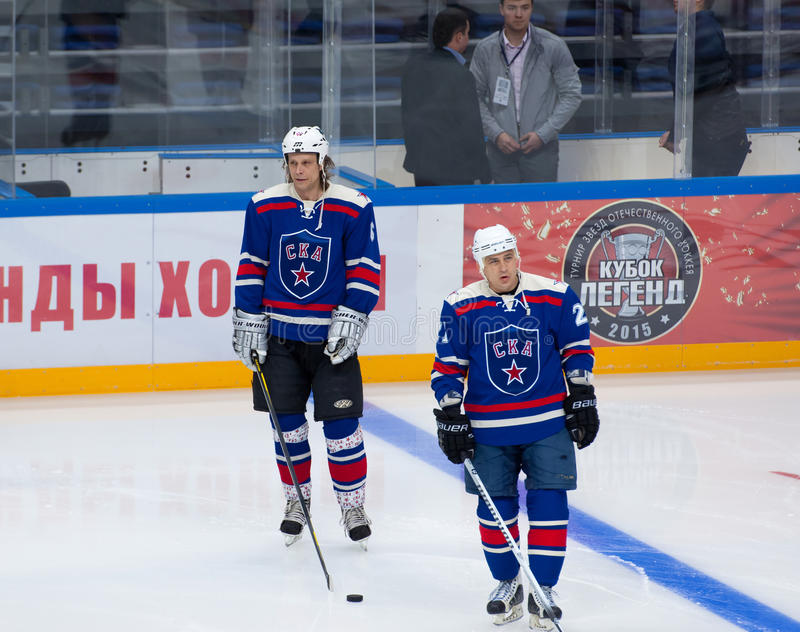 M. Shelukhin (6) and A. Vinogradov (21) royalty free stock photography