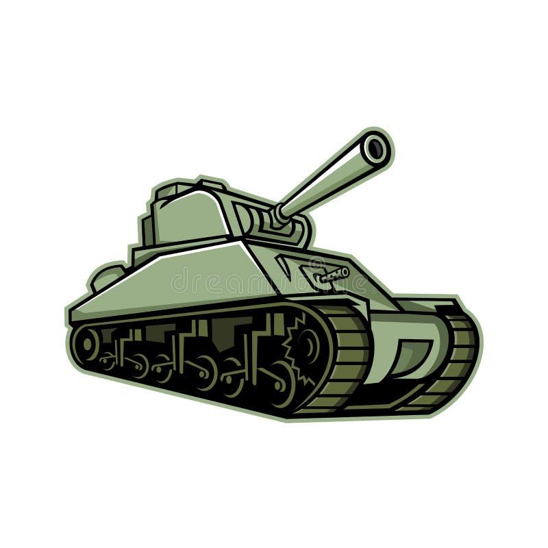 M4 Sherman Medium Tank Mascot royalty-vrije illustratie